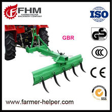 Tractor 3 point rear grader blade with soil ripper machine