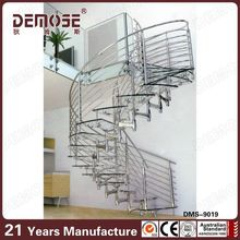 spiral stairs with glass tread/ steel stairs india