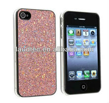 2013 Hot Selling Silver Bling Glitter Hard Case Skin for iphone 4