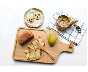 Hot Selling Product For Zakka Style <strong>Natural</strong> Wooden Unique Texture Baby Serving Plate Food Pate