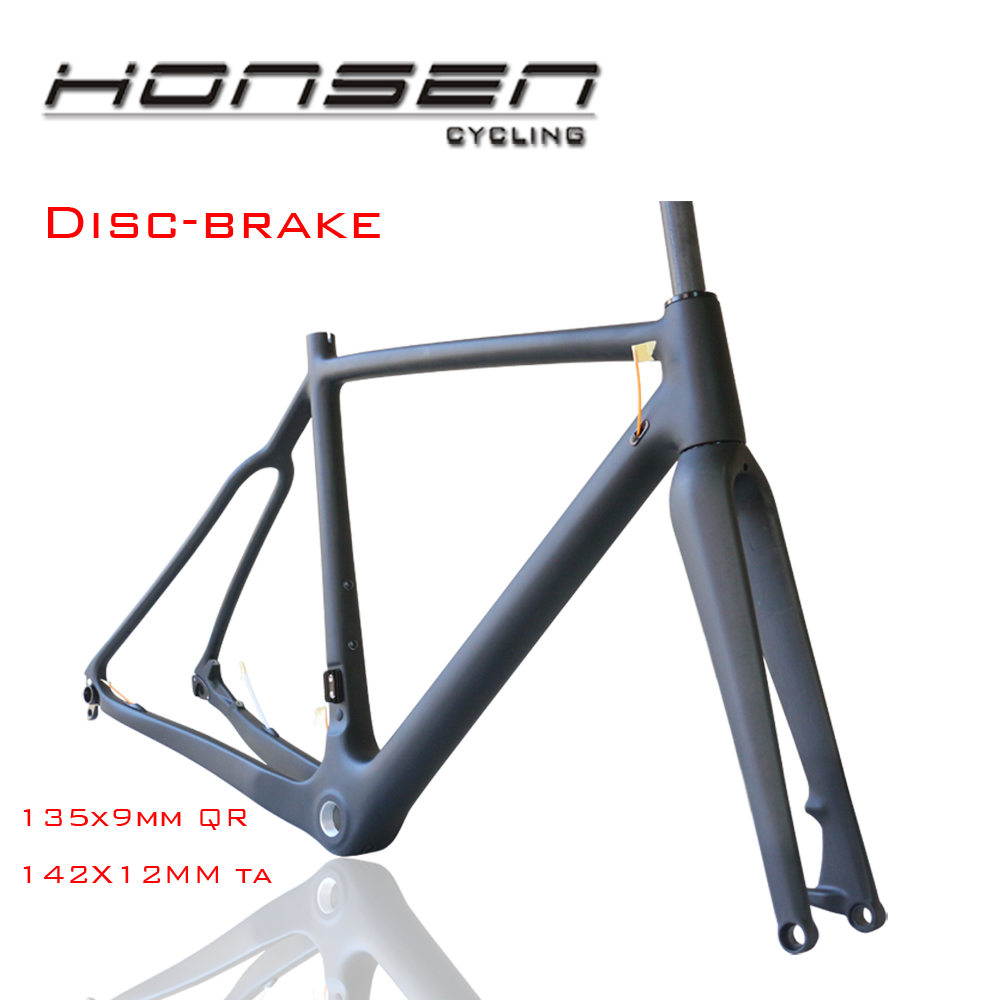 Honsen HM-286,no foldable cyclocross bike carbon fiber Disc-brake bike cx bicycle frame 48/50/52/54/56/58cm
