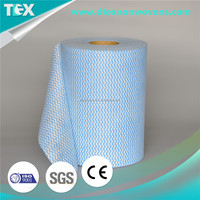 [D-TEX] Viscose and polyester cross web spunlace material for household cleaning