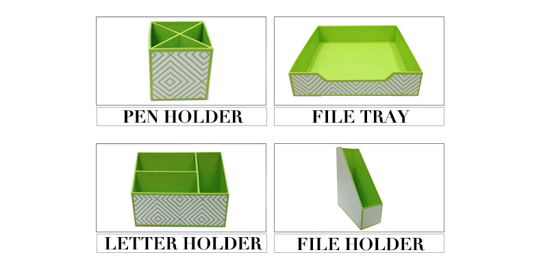 NAHAM personalized office stationery gift desktop organizer set