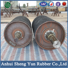 universally used heat resistant rubber coated conveyor drum roller