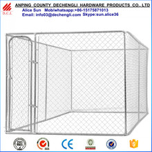 Factory wholesale 7.5x13x6ft(2.3x4x1.8m) chain link dog run kennel