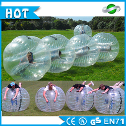 Bubble game! Giant inflatable clear ball, Inflatable buddy belly bumper ball, Human sized soccer bubble ball