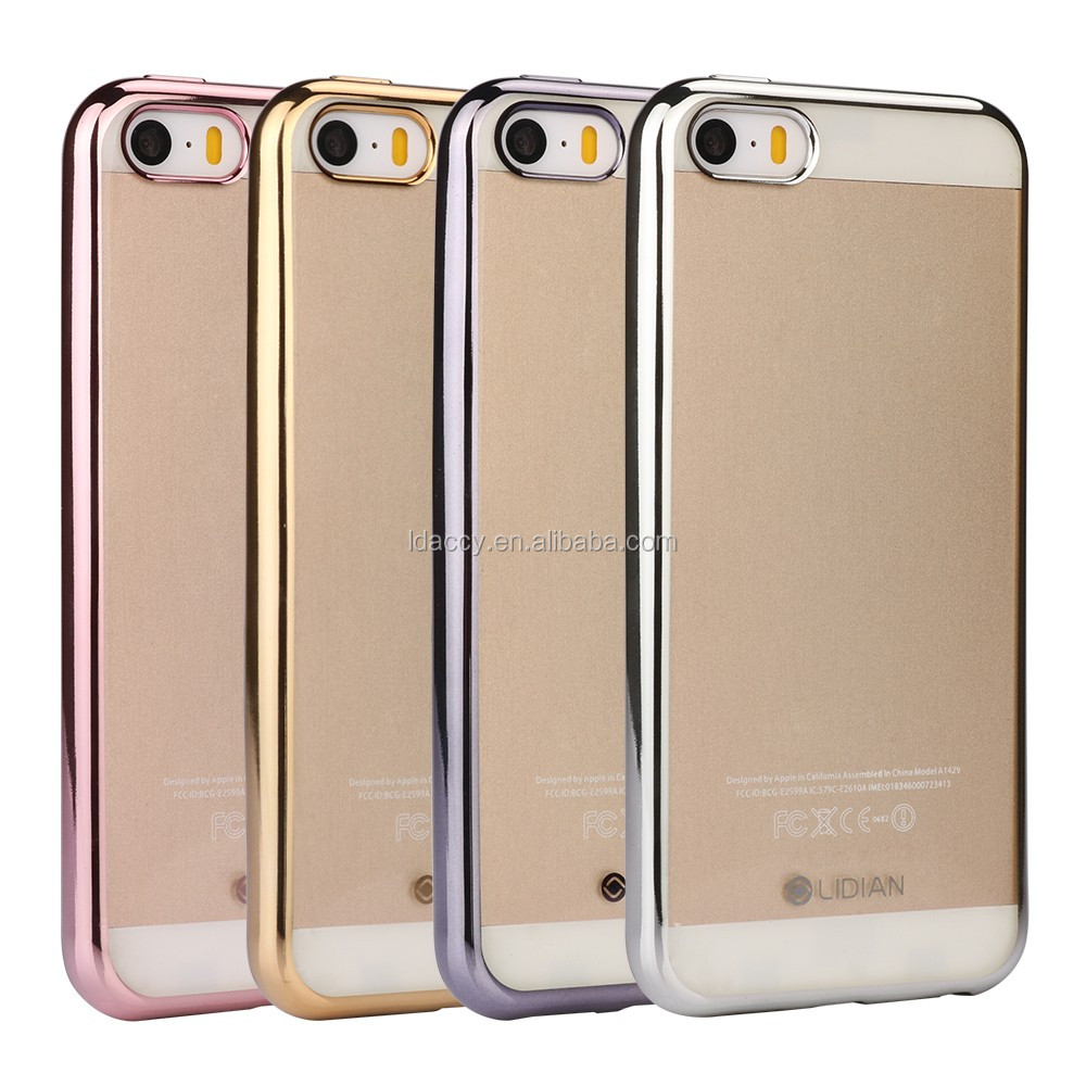 Customized unique design electroplate tpu case for iphone 5