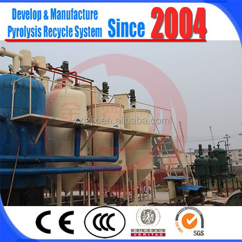 2016 new design used fuel oil crude oil recycling to diesel machine