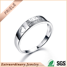 925 silver love you wholesale sterling silver couple lover rings