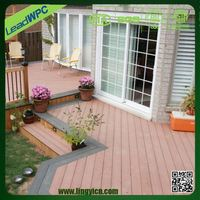 absence of discoloration and fading outdoor flooring material type wpc clip