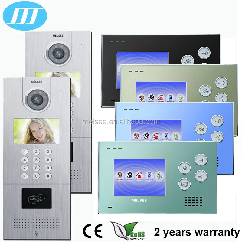 2016 popular TCP IP video intercom, smart home video door phone with delicate 4.3 inch touch screen