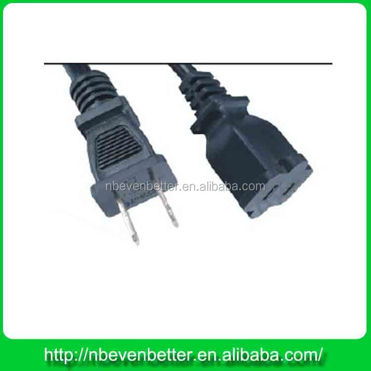 USA 2pin 14 gauge extension cords