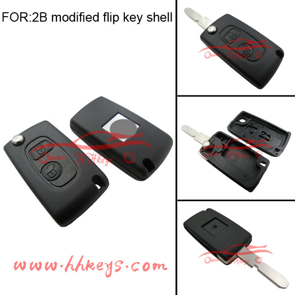 auto modified flip key cover key blank for Citroen