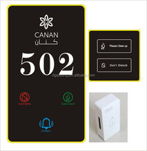 Touch screen hotel room sign hotel electronic doorplate with Do Not Disturb/hotel room number signs