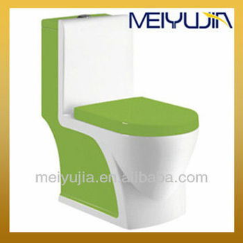 Low price green colored toilets tall toilets flush unit chaozhou manufacturer washdown and siphonic toilet