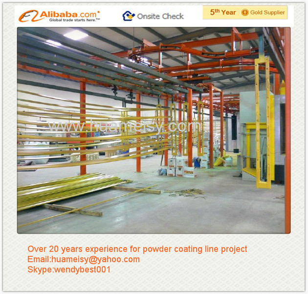 High Quality Aluminum Profile Epoxy Automatic Powder Coating Plant
