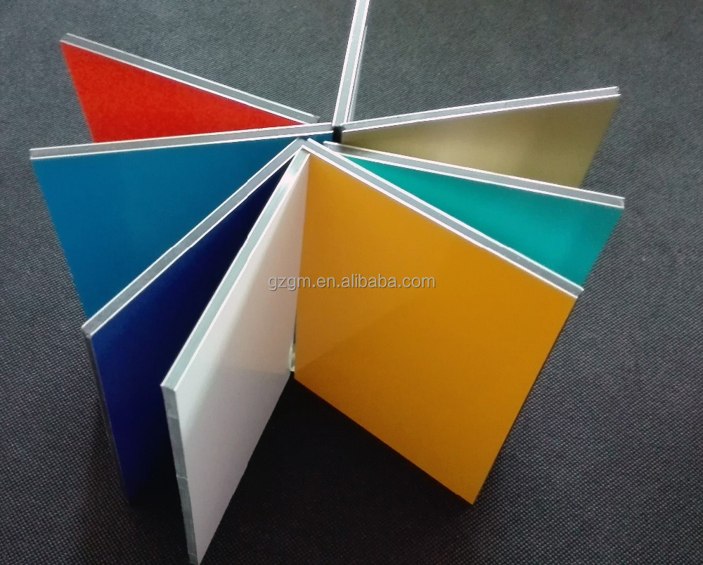 Guangzhou factory Different Types of Aluminium Composite Panel for wall cladding