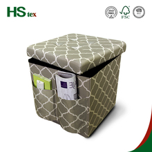 Twill printing beautiful home furniture modern ottoman folding storage footrest