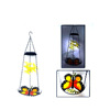 Metal butterfly solar light bird feeder glass bow