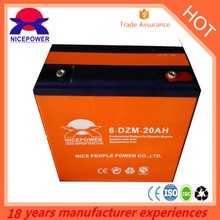 high quality 6-DZM-20 electric bicycle rechargeable battery 12v20ah