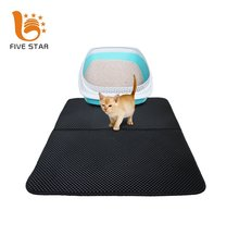 Five Star Waterproof Base Layer ECO-friendly Light Weight EVA Foam Rubber Double-Layer Honeycomb Trapper Cat Litter Mat