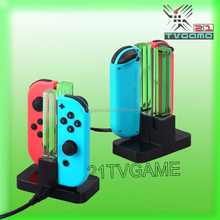 4 in 1 Charging Dock for Nintend Switch NS N-Switch Joy-Con Gamepad Black Charger Station Stand For Swtich Controller