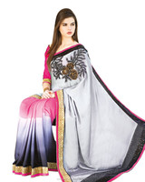 Online shopping Border Worked Saree