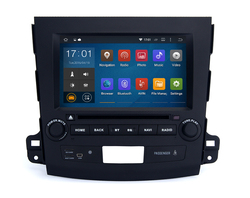 Cheap 4x50W Surround Stereo touch screen Black colored car dvd player with GPS for Mitsubishi Outlander 2007 2011
