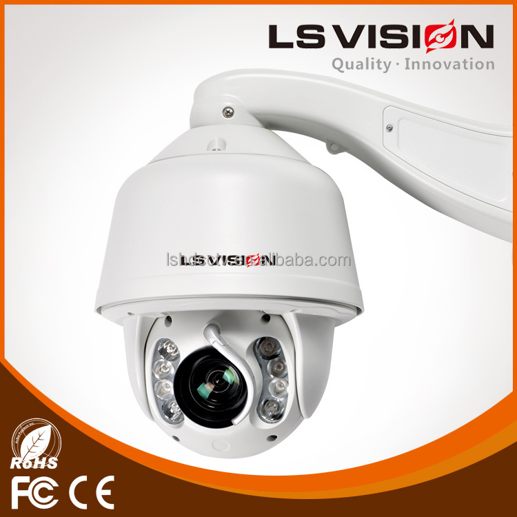 LS VISION outdoor security ir cctv dome kamera pan tilt zoom high speed dome camera poe onvif ir dome 2mp network camera