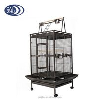 Hammer Tone Black Bird Cage Large Play Top Parrot Cage Macaw Cockatoo Pet Cages