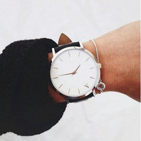 custom trend quartz leather band your own brand watches stainless steel