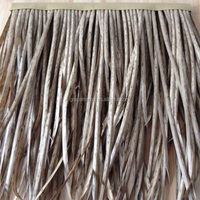 delicate wooden roof decoration material pvc thatch keba
