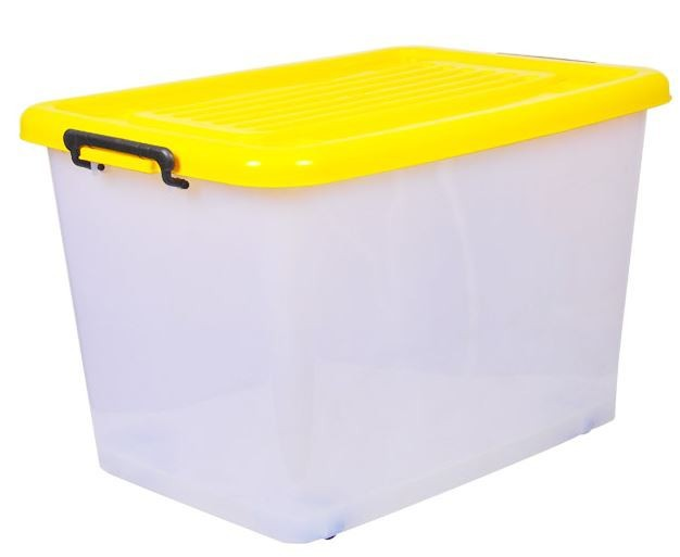 PLASTIC STORAGE BOX WITH HANDLES & WHEELS 5667