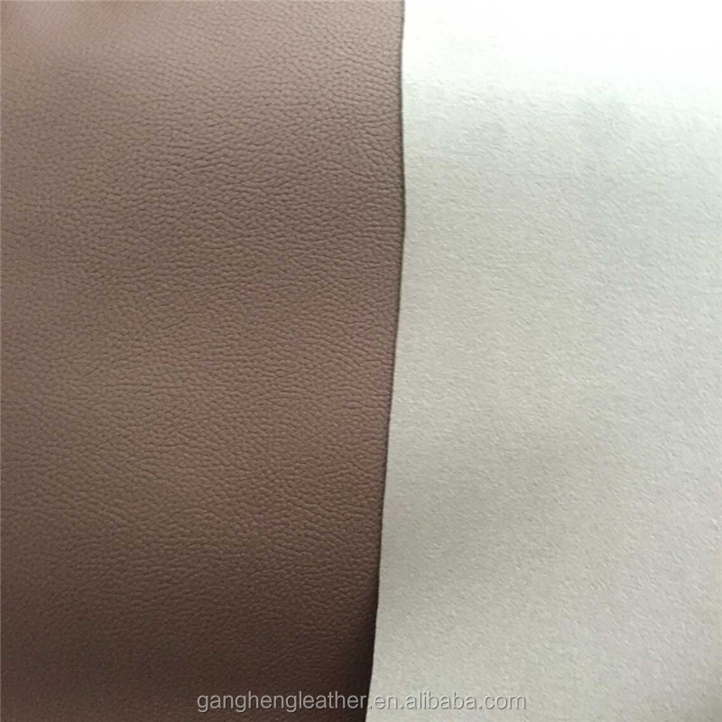 Brown sole embossed pu artificial leather for car passed European standard