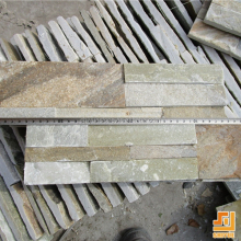 China light yellow beige quartz Wall cheap cement cultured cultural stone veneer