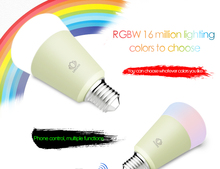 Electric RGB LED Lighting WiFi App Control Smart Bulb By Smart phone