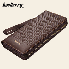 2016 Baellerry Casual style zip and oblong and woven pattern Men Wallets