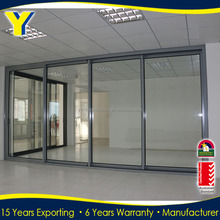 Storm resistant Aluminum Frame Sliding Glass Doors from YY factory of Aluminium double glazed windows & doors solutions
