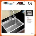 stainless steel single bowl stainless steel kitchen sink with stainless steel draining board