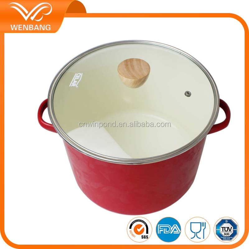 stainless steel carbon steel white porcelain enamel cookware