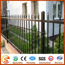 Wrought iron fence Ornamental vinyl picket fence with colors coated