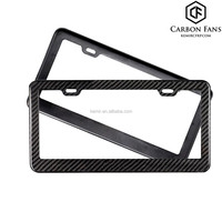 For USA American car 100% real Carbon fiber license plate frame