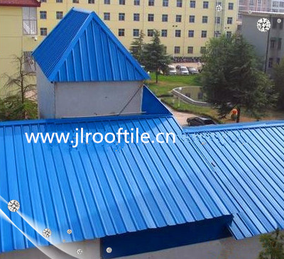 Blue color PVC/UPVC corrugated trapezoid roof tile & roof sheet/Aging insistance roof sheet