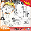 RENJIA fda approved silicone sheet funny placemats fancy cup mats