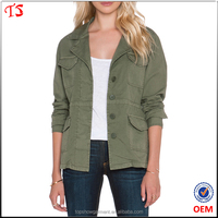 Factory hot products wholesale autumn cotton twill women jacket model