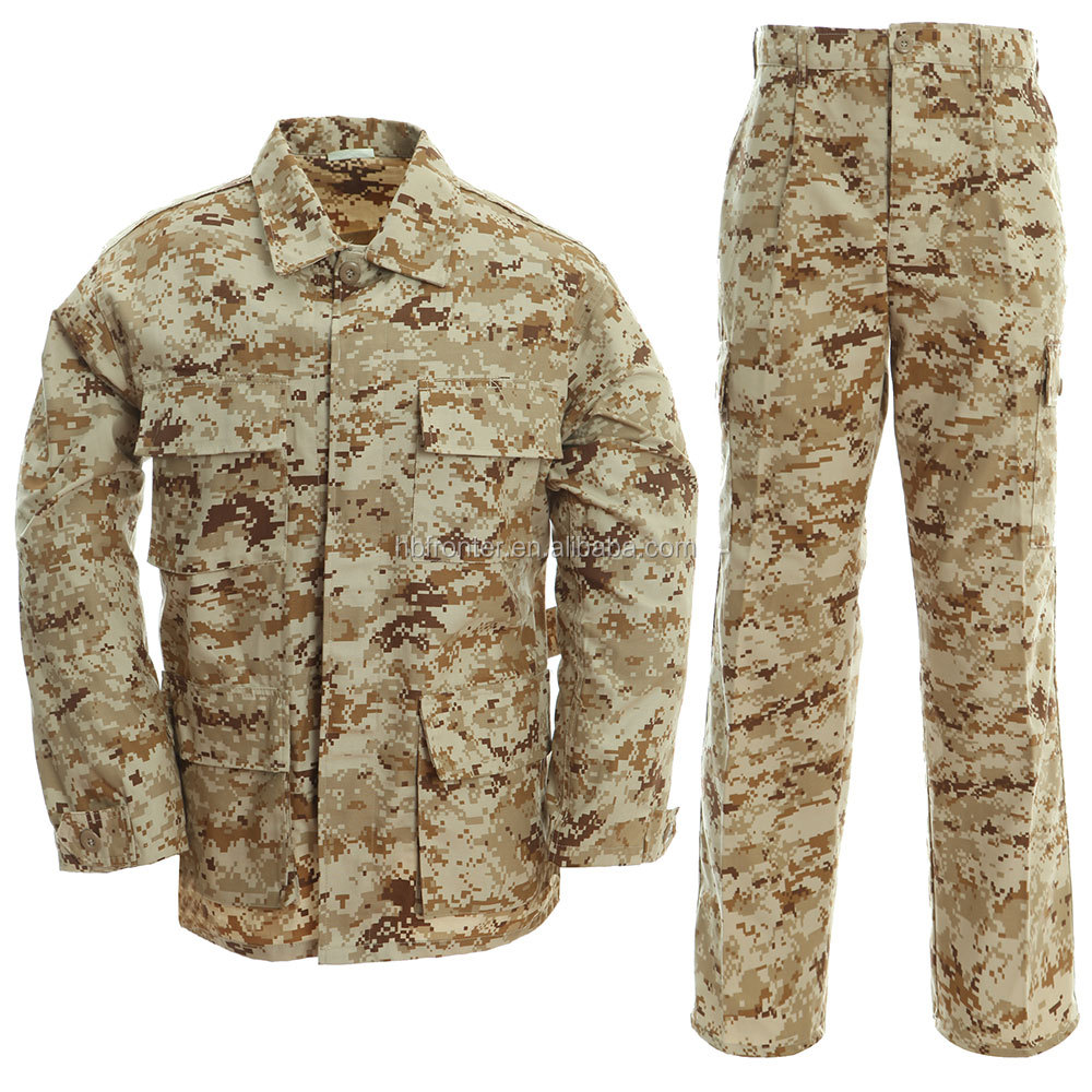 Outdoor Breathable Desert Camouflage Army Suits / Paintball Dress / Combat Military Uniform For Men