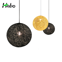 Natural rattan lamp rattan ball lamp shade pendant lighting