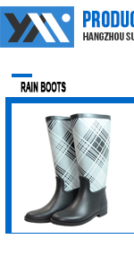 Light blue waterproof rubber rain boots for kids