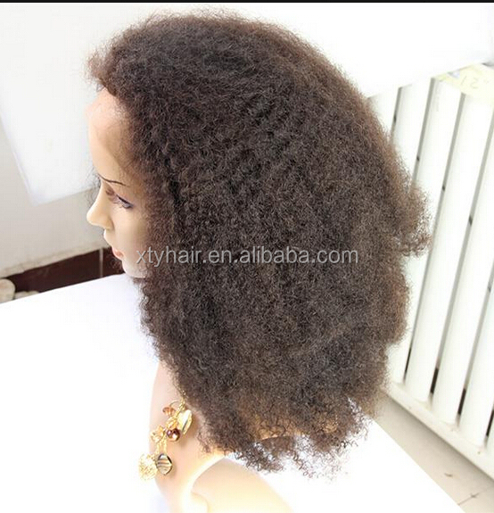 Alibaba express afro kinky human hair wig full lace wig with baby hair