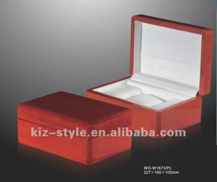 red watch boxes from direct manufacture, wooden watch box